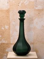 Misure Ø 16 h 35 Bottiglia verde satinata  Vetro satinato