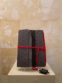 Misure 15 cm x 21 cm Cahier de voyage con amuleto tessuto Carta - amuleto perla e cuoio 40 Euro