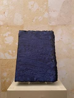 Misure 19 cm x 25 cm Cahier de voyage carta blu indigo  Tinta a mano  40 Euro