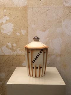 Misure  Ø 13 x h 18 Contenitore ceramica piemontese Ceramica