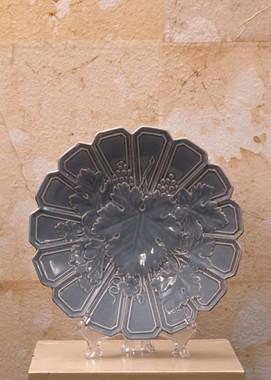 Misure Ø 24  Coppia piatti Francia 900'Porcellana lavanda tipo Barbotine