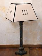 Misure colonna 70 x 78 Misure cappello 30 x 49 x 32 Lampada colonna con cappello Effetto marmo