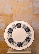 Misure  Ø 30 Vassoio '900  Ceramica fiorata