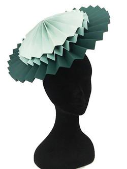 Elena's Wedding Green Fan