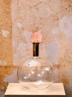 Misure Ø 14 h 23 Bottiglia quarzo rosa  Vetro e tappo in quarzo