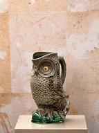 Misure Ø 12 x h 22     Brocca civetta    Ceramica   Hand Made     Produzione artigianale portoghese