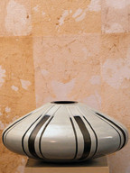 Misure  Ø 37 h 16 Vaso grigio e nero  Ceramica