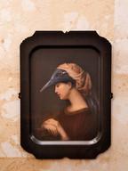 1 Misure 31 x 44    Vassoio Ibride piccolo Donna uccello      Metallo