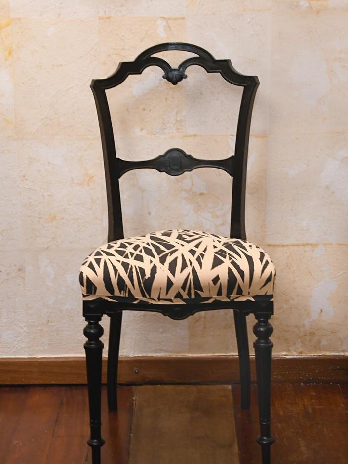 10 Misure h 80    Sedia    Legno, seduta tela dipinta a mano