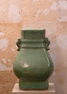 Misure 33 x 25 Vaso celadon piccolo ceramica craquele