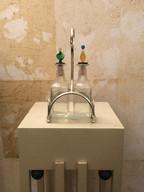 Misure h 22 x l 11 Oliera Murano Vetro Soffiato Vetro e acciaio Hand Made