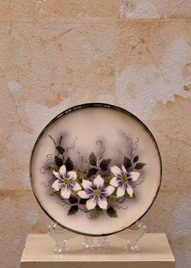 Misure Ø 21 x h 25 Vassoietto florale 900'Porcallana e cromo