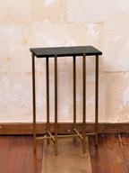 12 Misure 35 x 19 x 54     Tavolino rettangolare piano in  pietra     Metallo e pietra