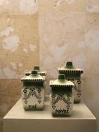 isure Ø 16 x h 9 a scalare Contenitori spezie Ceramica francese '900 Liberty