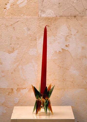 Candelabro vetro colorato Vetro