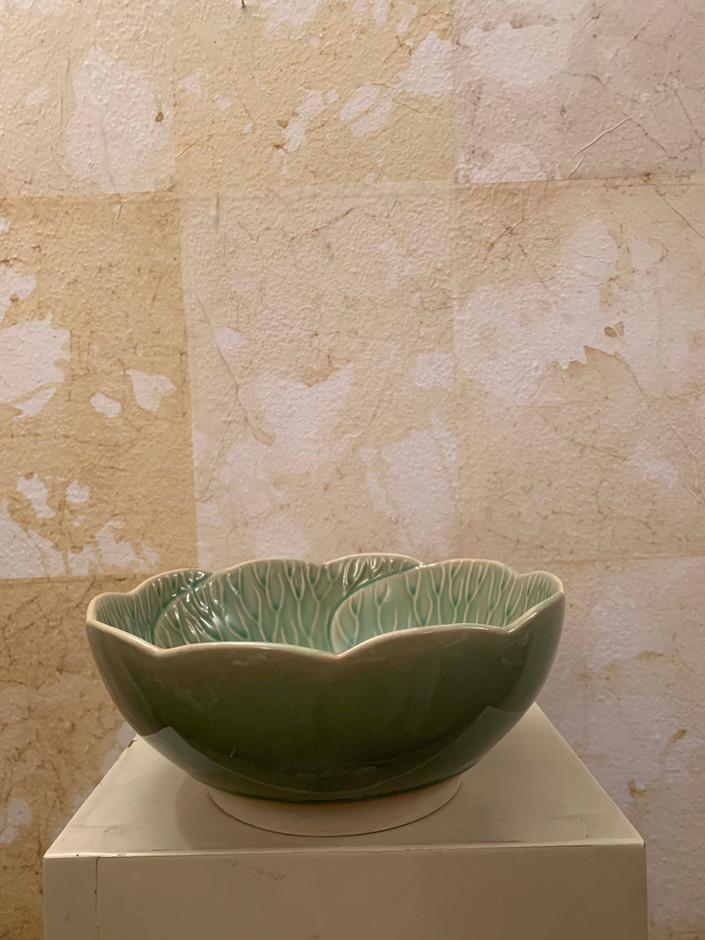 Misure  Ø 19,5 x h 8     Ciotola vegetale     Ceramica