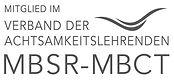 Logo MBSR Verband, Mitglied im Verband der Achtsamkeitslehrenden MBSR-MBCT, MBSR-Verband, MBSR-Kurse, MBSR-Lehrerin, Schmerztherapie