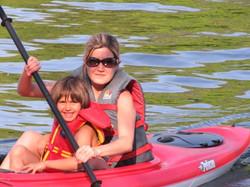 Mom & Daughter Kayaking