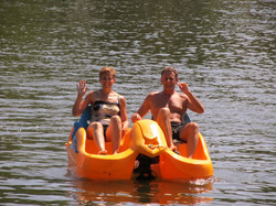 Paddleboating on the River