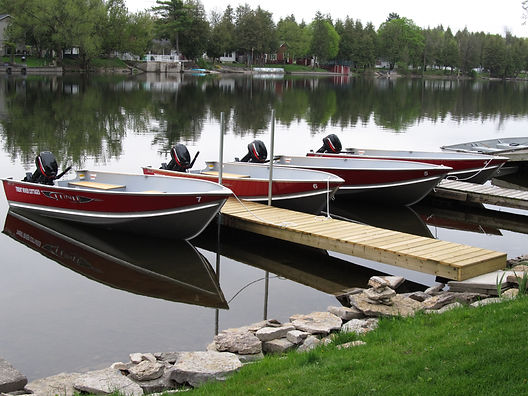 rental fishing boats on the Trent River