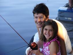 Gramma & Granddaughter Fishing