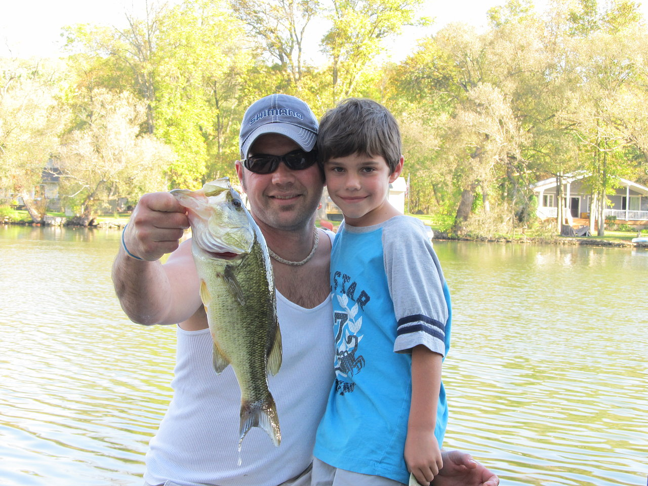 Father Son Bass Fishing