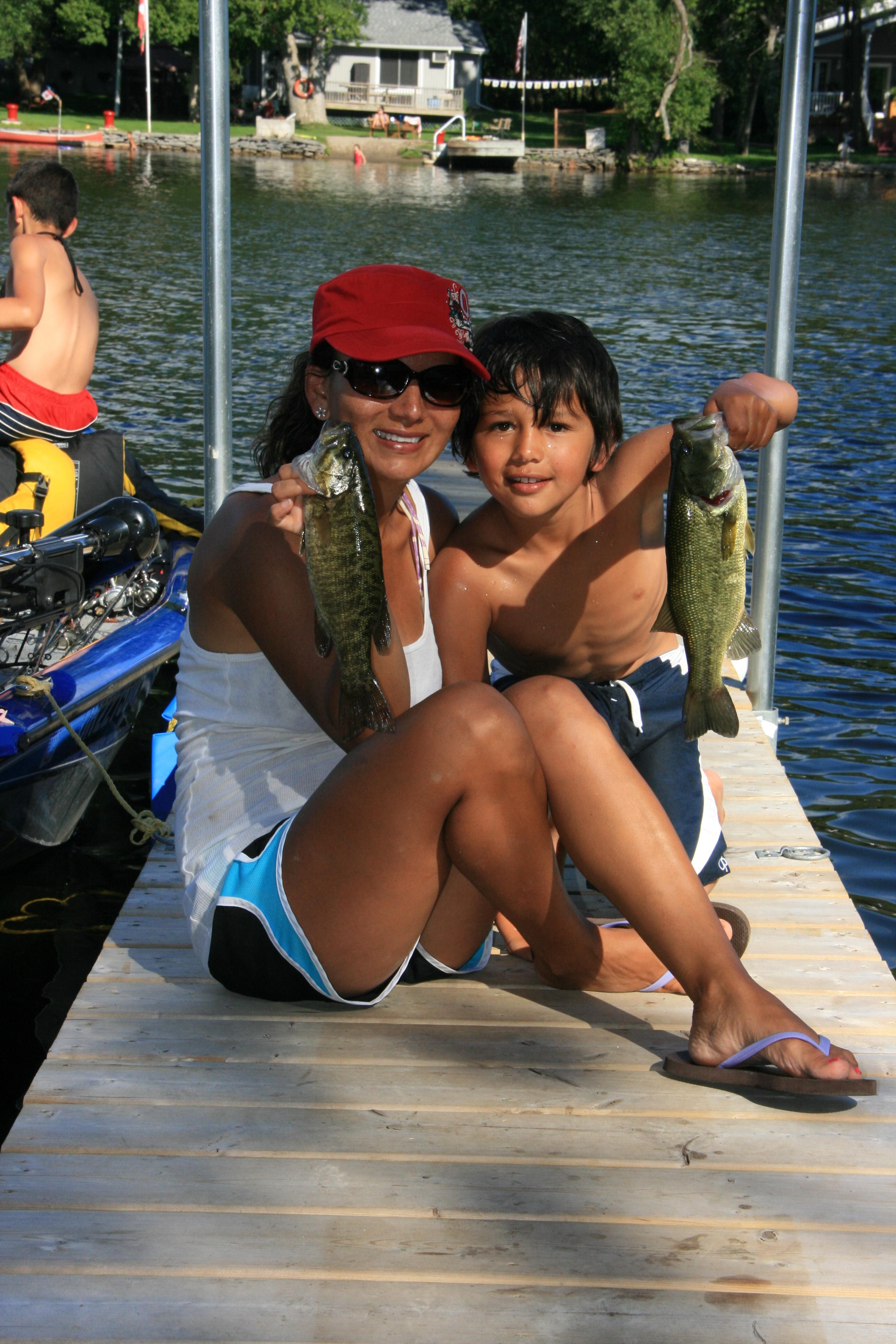 Mom & Son Catch