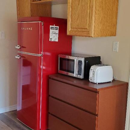 Fridge Microwave and toaster