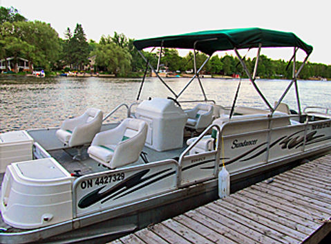 Pontoon boat rental, Trent River