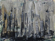 32 Deserted city acrylics on stretched c