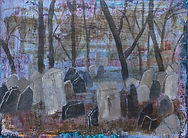 31 Jewish Cemetry in Prague acrylics on
