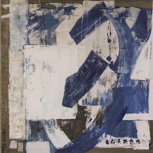 34 Untitled I –  mixed media on stretche