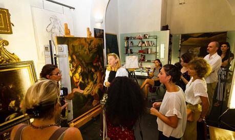 Caravaggio Rome private tour with Restoratio Lab Access