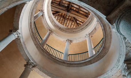 Alone in the Sistine Chapel Tour_Bramante Staircase