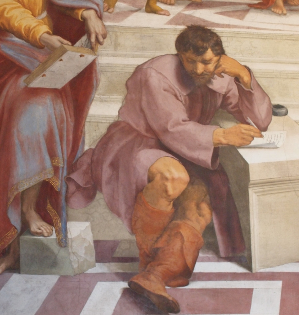Michelangelo in Raphaels The School of Athens in the Vatican Museums