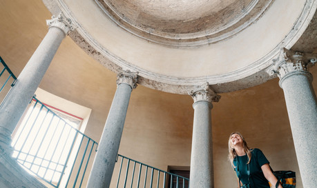 Alone in the Sistine Chapel Tour_Bramante staicase