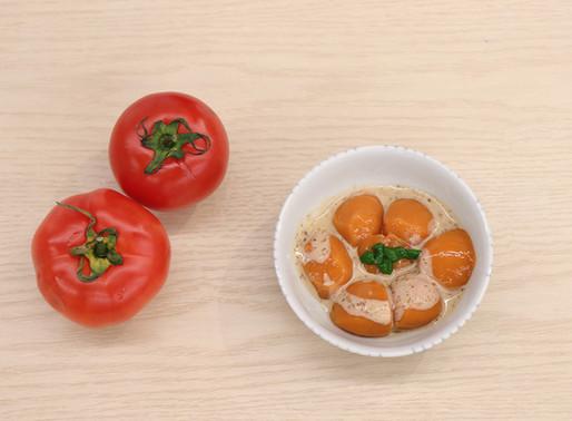 【日式軟餐料理系列】涼拌麻醬蕃茄軟餐