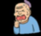 老人,吞嚥困難徵狀,咳嗽