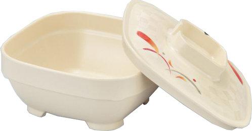 日本Sanshin小黃葉印花方碗連蓋(可加熱)