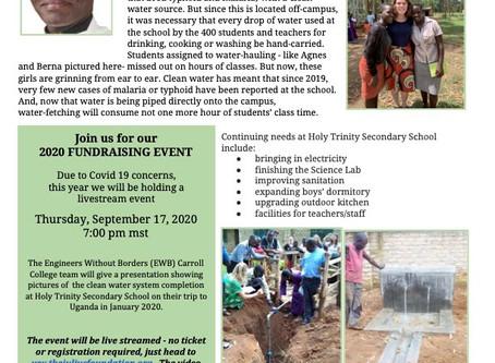 Fr. Julius Foundation - Summer 2020 update