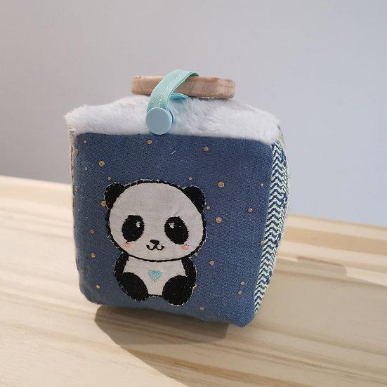 Cube d'éveil bleu
