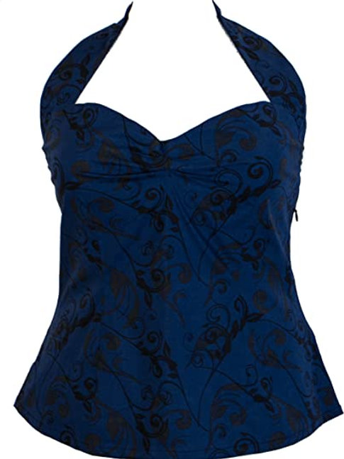 Printed Halter Top (Blue)