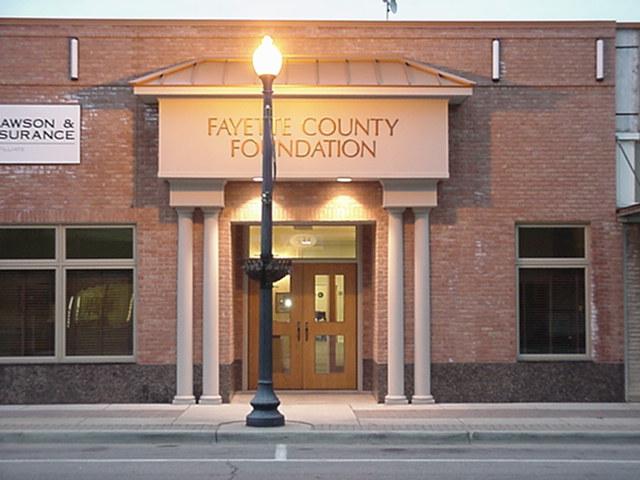 Foundation building at dawn.JPG