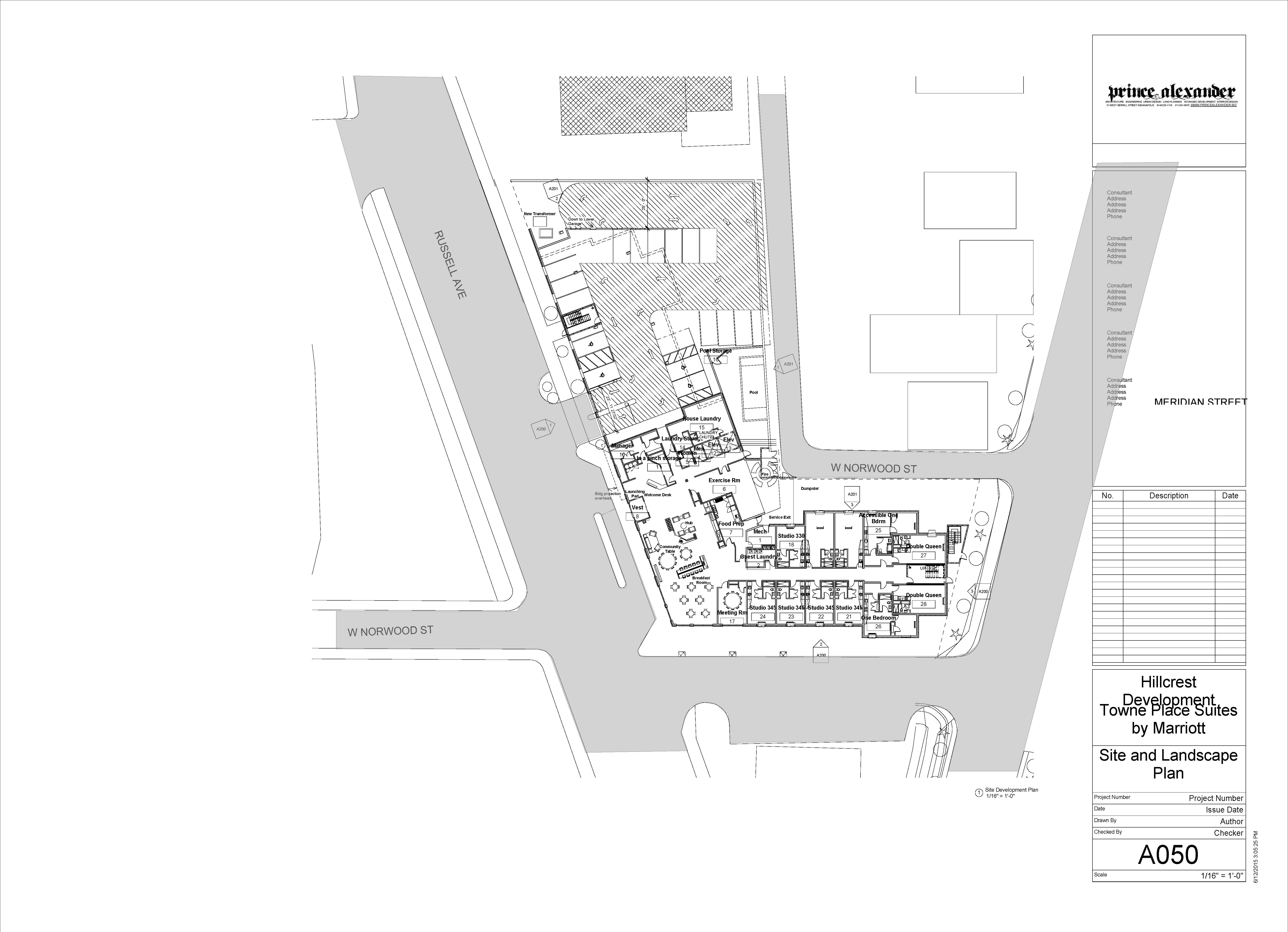 A050 - Site and Landscape Plan