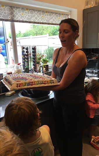 Busy mum hosting a kids party