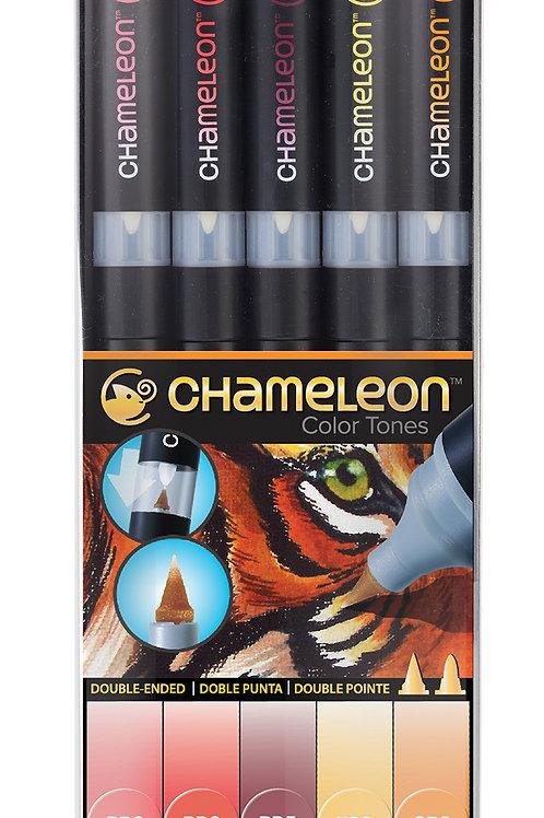 Chameleon Tonlama Kalemi 5'li Sıcak Renkler Seti