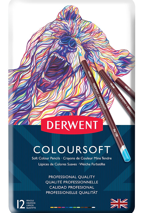Derwent Coloursoft 12'li Set Metal Kutu