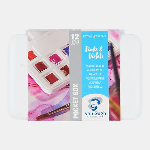 Van Gogh 12'li Tablet Suluboya Seti Pembe/Mor