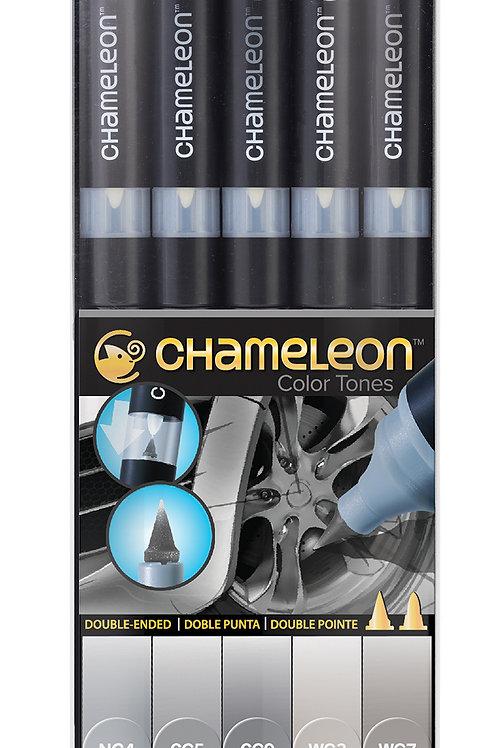 Chameleon Tonlama Kalemi 5'li Gri Renkler Seti (Gray Tones)