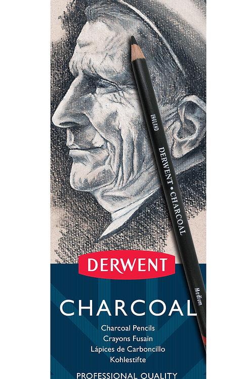Derwent Charcoal Füzen 6'lı Kalem Seti Metal Kutu